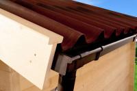 Schindelplatten-Set rot Gr. 1 (bis B 380 x T 350 cm) inkl. Firsthaube und Montagematerial
