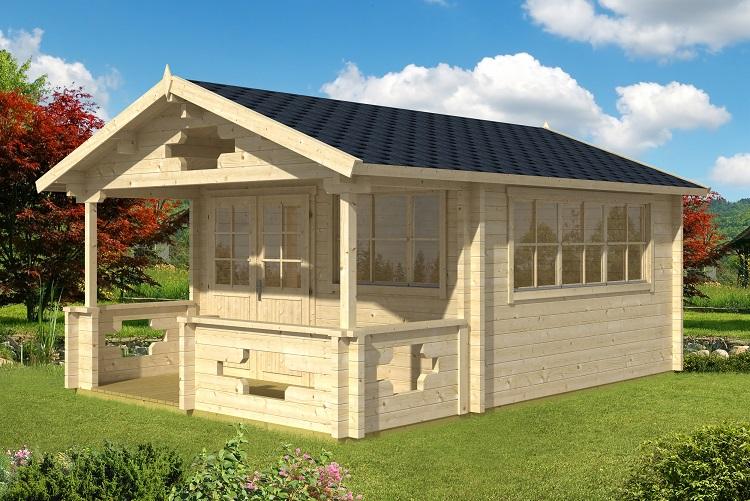 Gartenhaus sommerland 70 a - Gartenhaus mit tonnendach ...