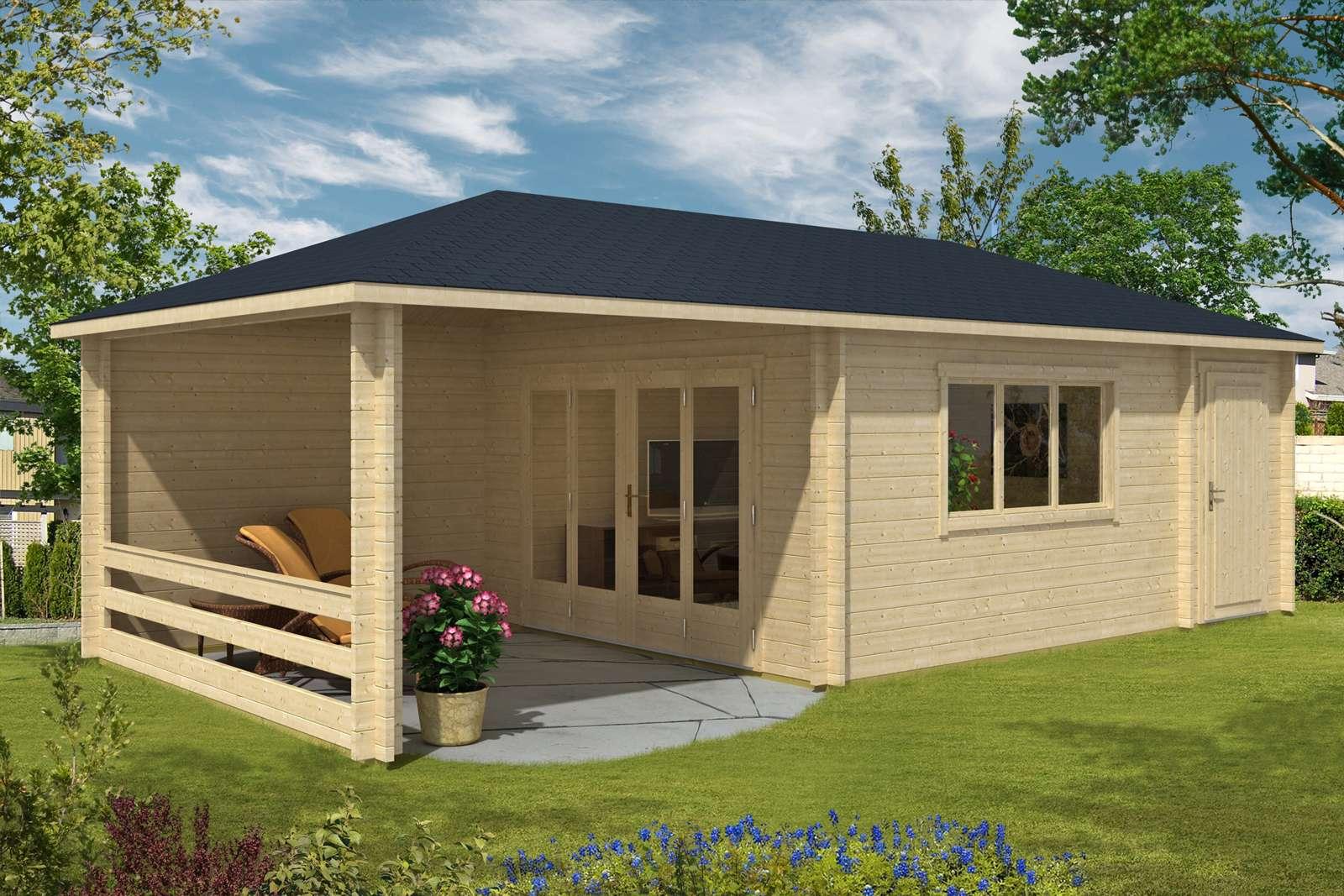 gartenhaus anbau affordable anbau flachdach holz. Black Bedroom Furniture Sets. Home Design Ideas