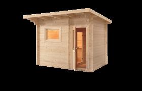 gartensauna mit vorraum kaufen. Black Bedroom Furniture Sets. Home Design Ideas