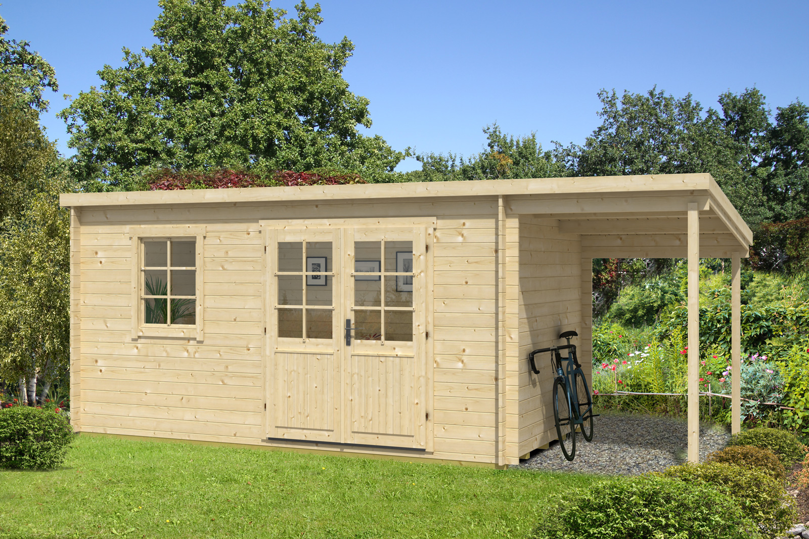 Gartenhaus York-28 mit Schleppdach