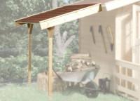 Schleppdach für Gartenhaus ab Haustiefe 200 cm