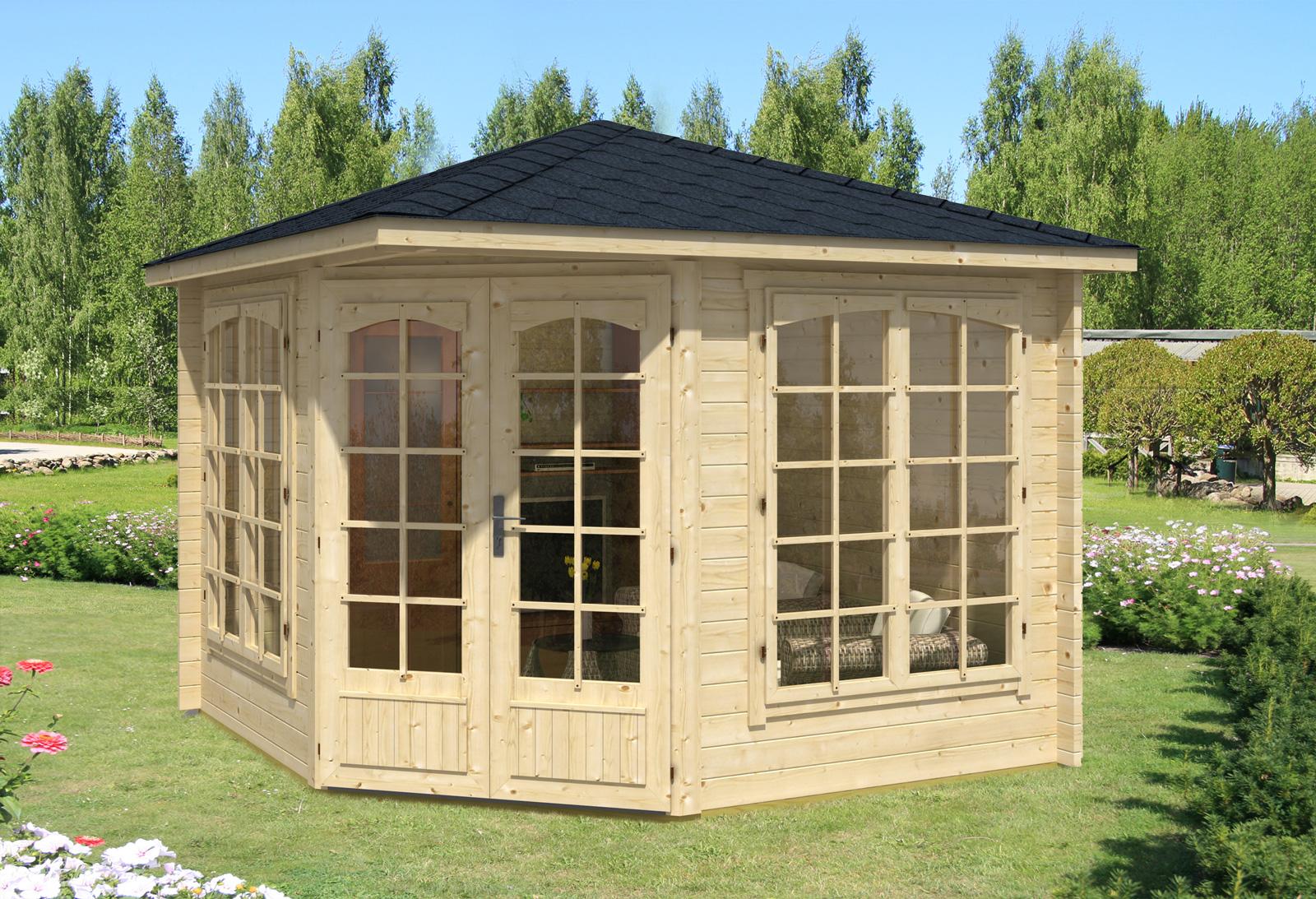 5 eck gartenhaus modell josephine 40 a - Gartenhaus aus aluminium ...