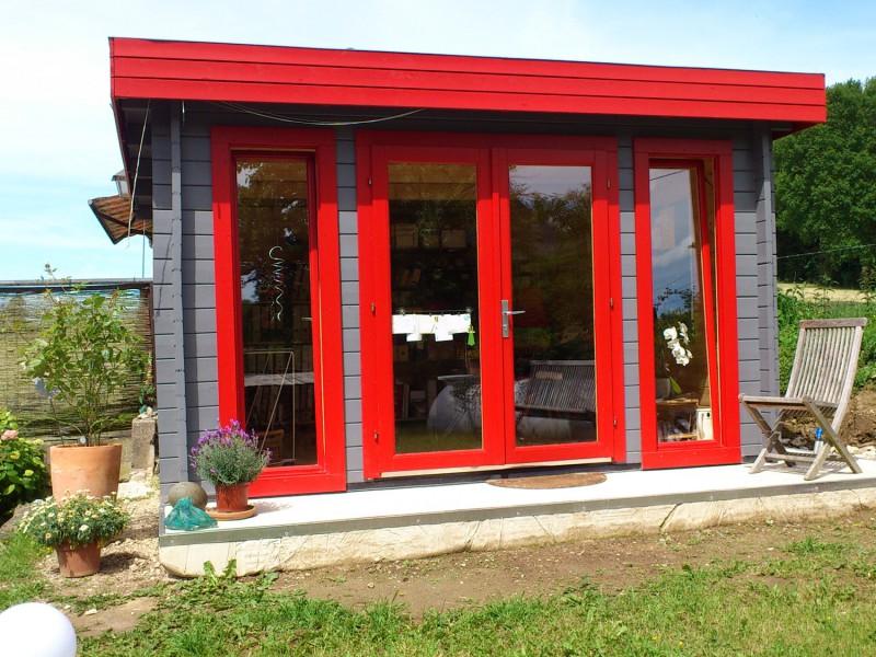 flachdach gartenhaus modell madera 44 b iso madera 44 b iso. Black Bedroom Furniture Sets. Home Design Ideas