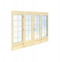 Palmako Doppeltür ISO 44 mm 114 x 187 cm mit Fenster