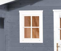 Einzelfenster für Gartenhaus 21/28 mm, 69x79cm, weiss