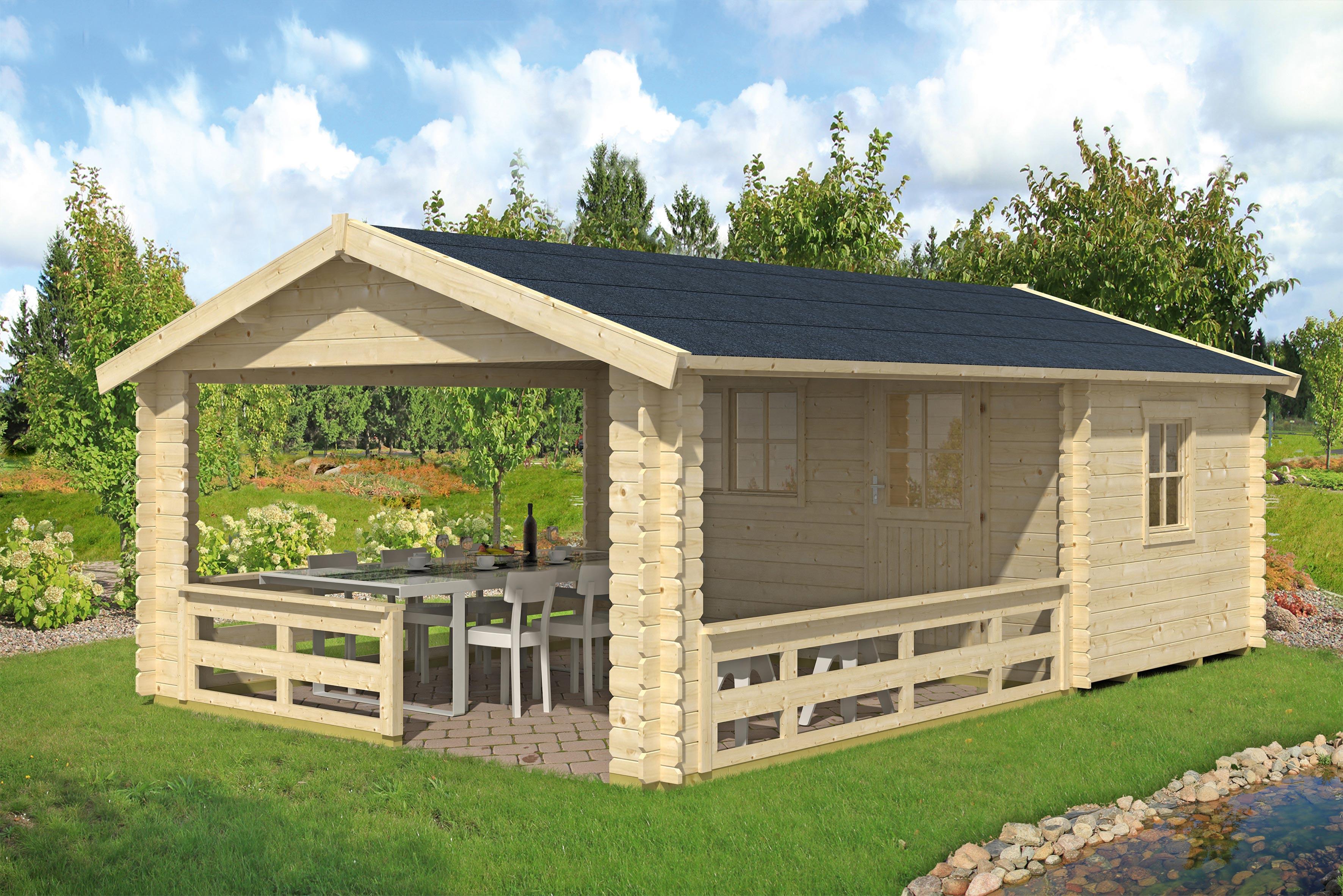 Gartenhaus alicante 1 for Blockhaus gartenhaus