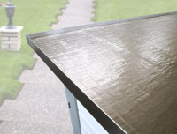 hochwertige selbstklebende Metalldachbahn für WEKA Flachdachhäuser