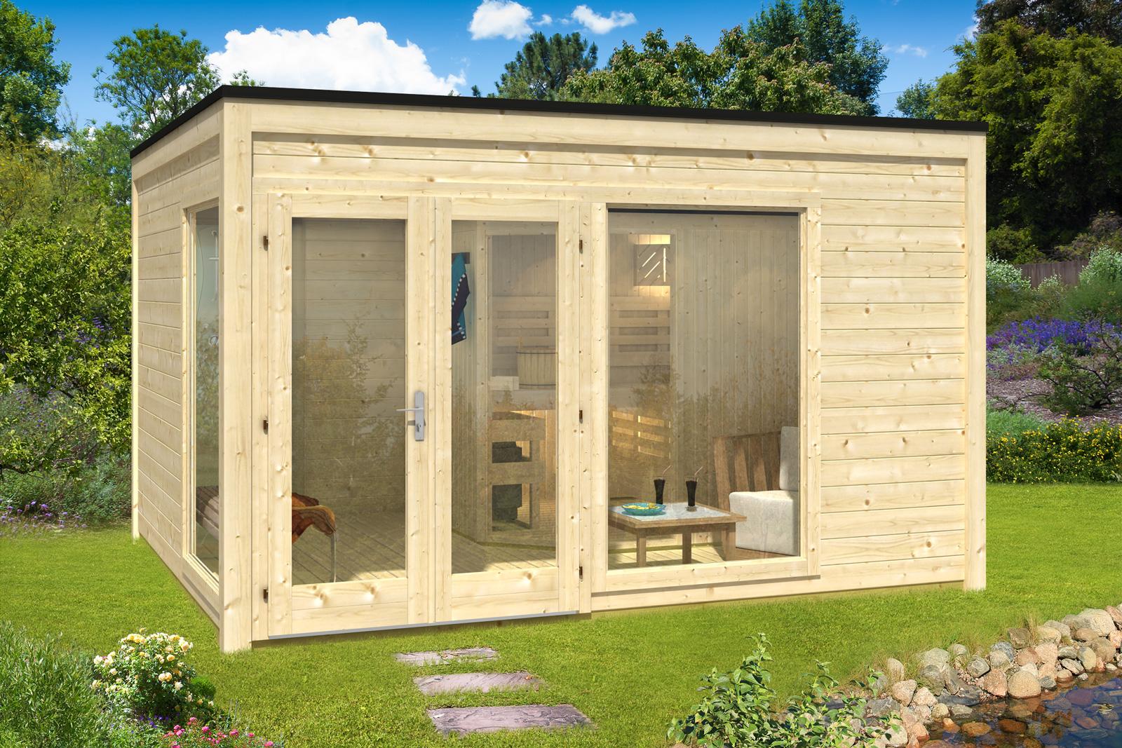 design saunahaus cubus 4035 a z gartenhaus gmbh. Black Bedroom Furniture Sets. Home Design Ideas