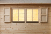 Klappläden für Doppelfenster