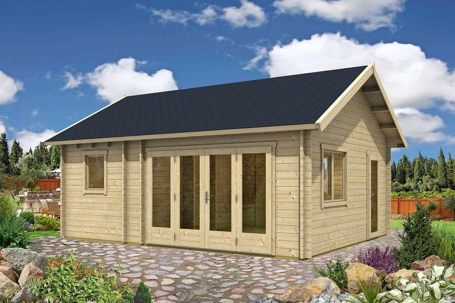 fertighaus gartenhaus gartenhaus modell prignitz b mit terrasse with fertighaus gartenhaus. Black Bedroom Furniture Sets. Home Design Ideas