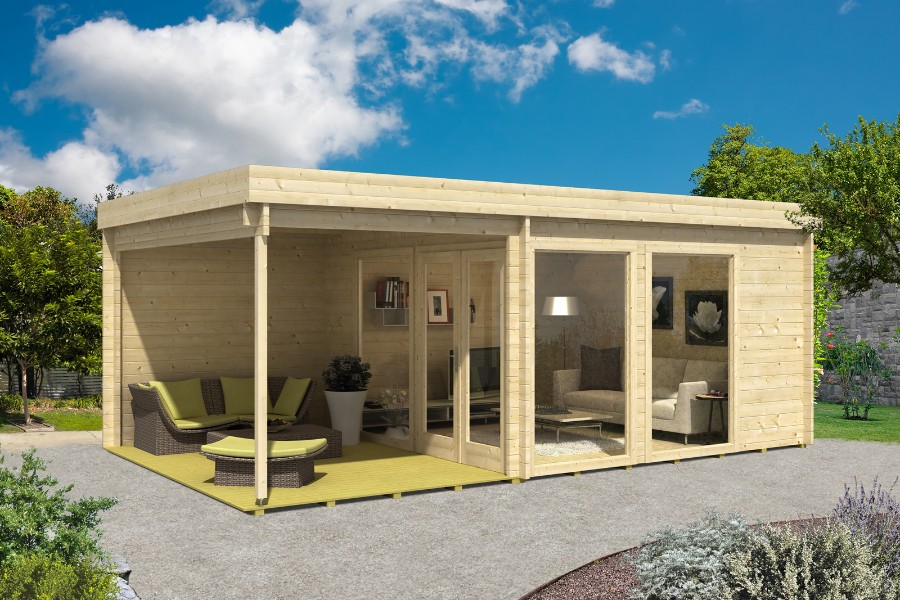 Design gartenhaus avantgarde 44 for Gartenhauser mit flachdach