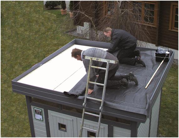 Lieblings Dachdecken Gartenhaus @RG_74