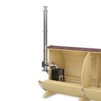 FinTec Holz Saunaofen TROLL mit Schornstein-System (Rückwand)