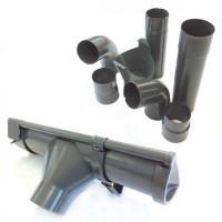 Metall Dachrinnen-Set Nr. 306KB dunkelgrau