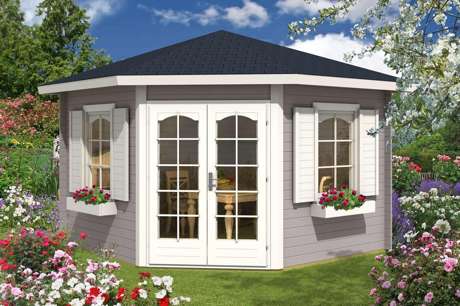 5-Eck Gartenhaus Modell Alina-28