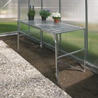 Aluminium-Tisch mit 1 Ebene