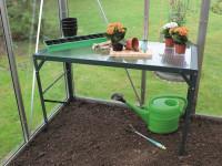 Aluminium-Tischaufsatz dunkelgrün mit HKP