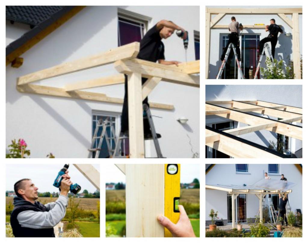Terrassenüberdachung Aufbau