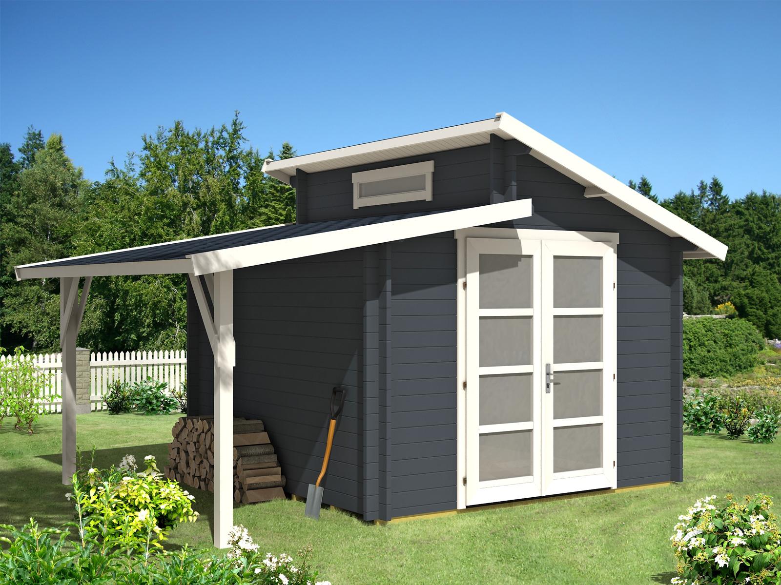 Gartenhaus aktiva mit schleppdach for Gartenhaus mit zwei raumen