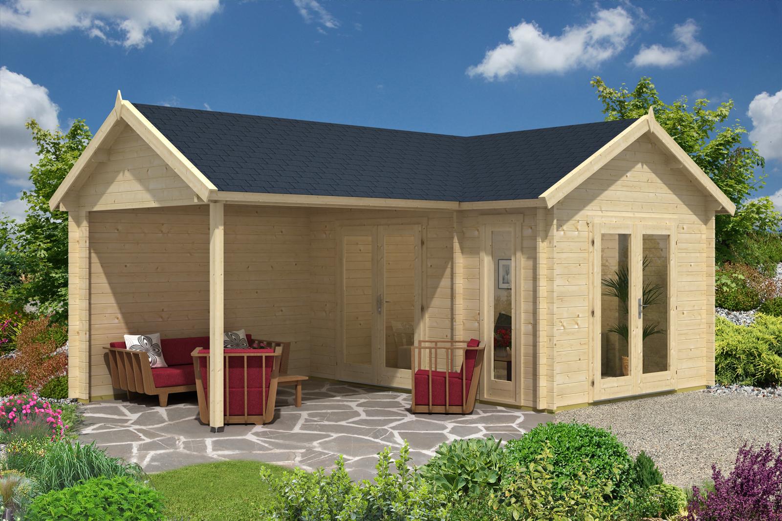 Gartenhaus holly 44 iso - Gartenhauser mit terrasse ...