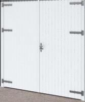 Garagentor für Holzgarage Falun Weiß