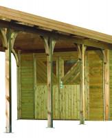 Karibu Front mit Doppelflügeltür für Einzelcarport
