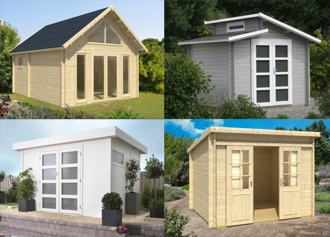 Gartenhäuser Dachformen