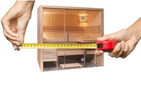 sauna nach ma individuelle sauna ma anfertigung vom fachmann. Black Bedroom Furniture Sets. Home Design Ideas