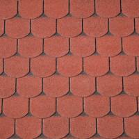 Dachschindeln Biberschwanz rot, 3m²