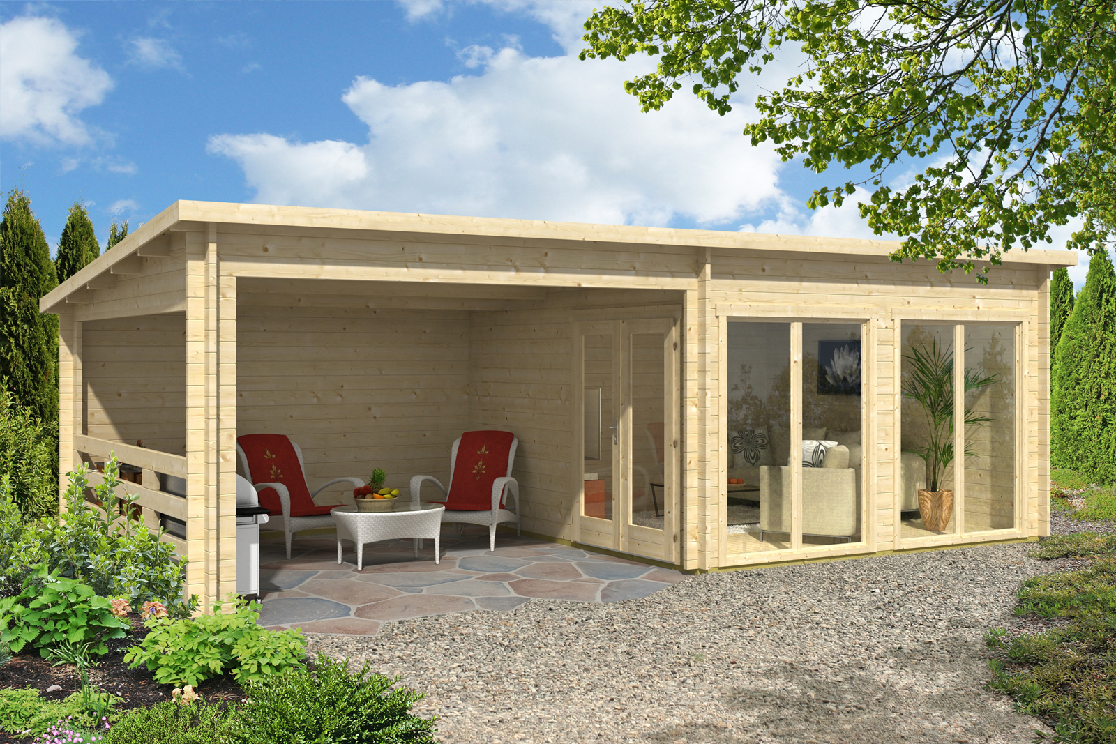 carlsson gartenhaus island iso. Black Bedroom Furniture Sets. Home Design Ideas