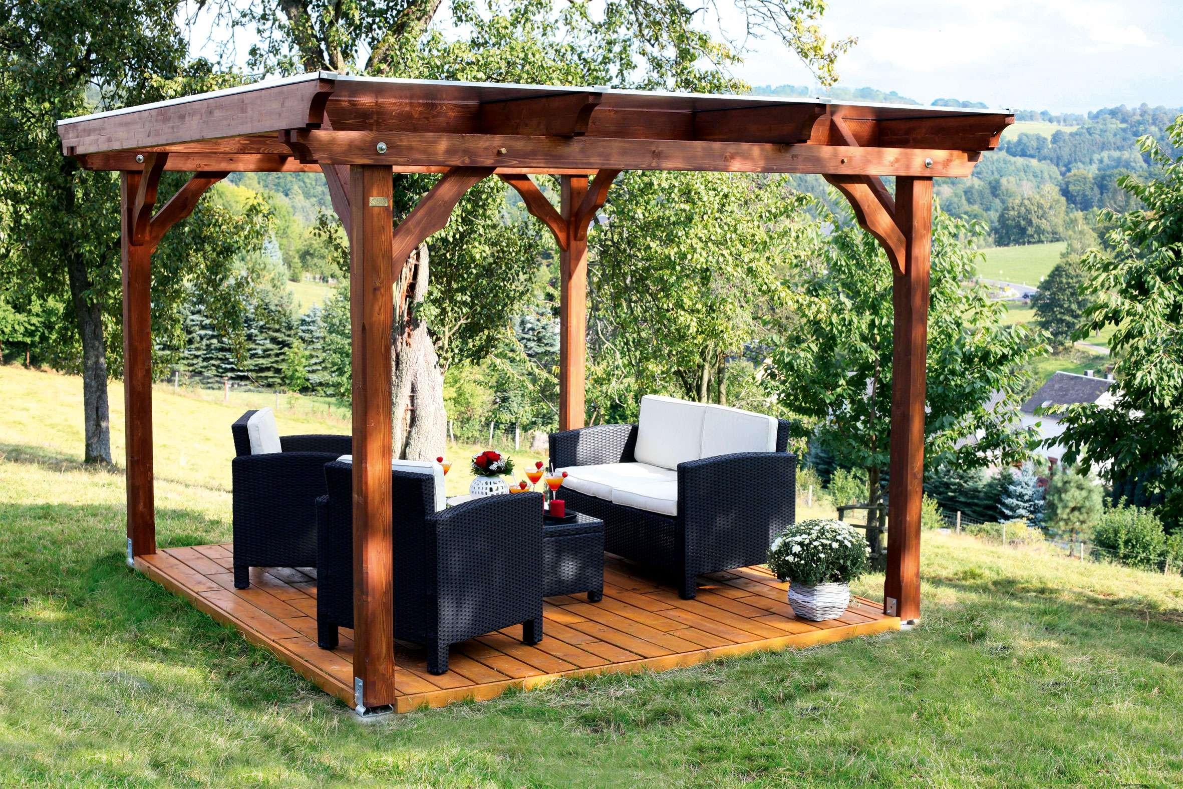 Holzpavillon Kaufen - Holz-pavillon-bausätze Vom Fachmann Gartenlaube Aus Holz Gartenpavillon