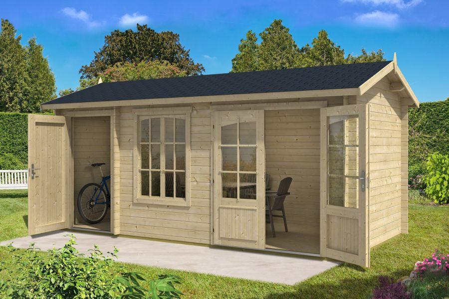 2 raum gartenhaus bolton 28 xl. Black Bedroom Furniture Sets. Home Design Ideas