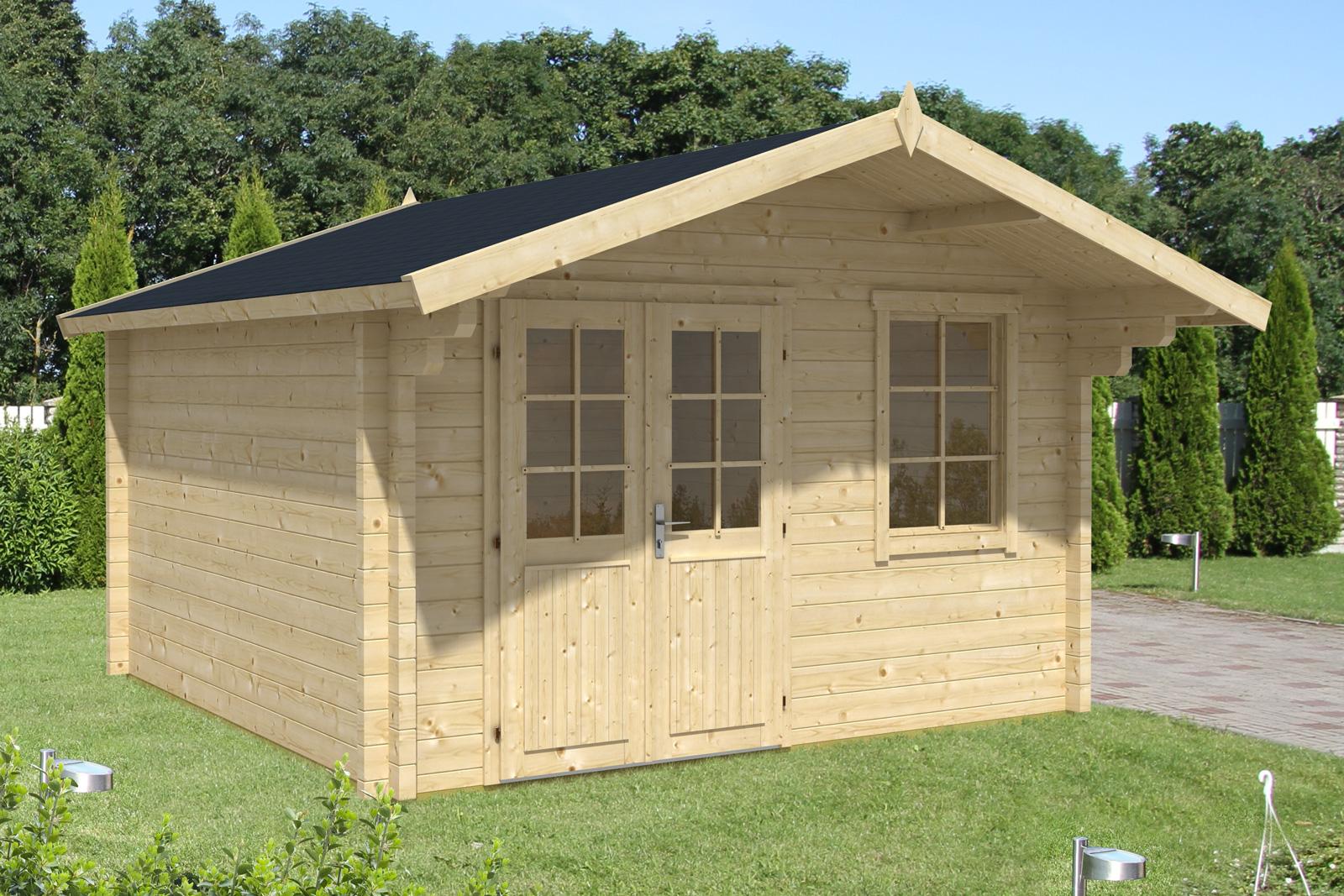 Saunahaus modell mona 70 - Gartenhaus aus aluminium ...