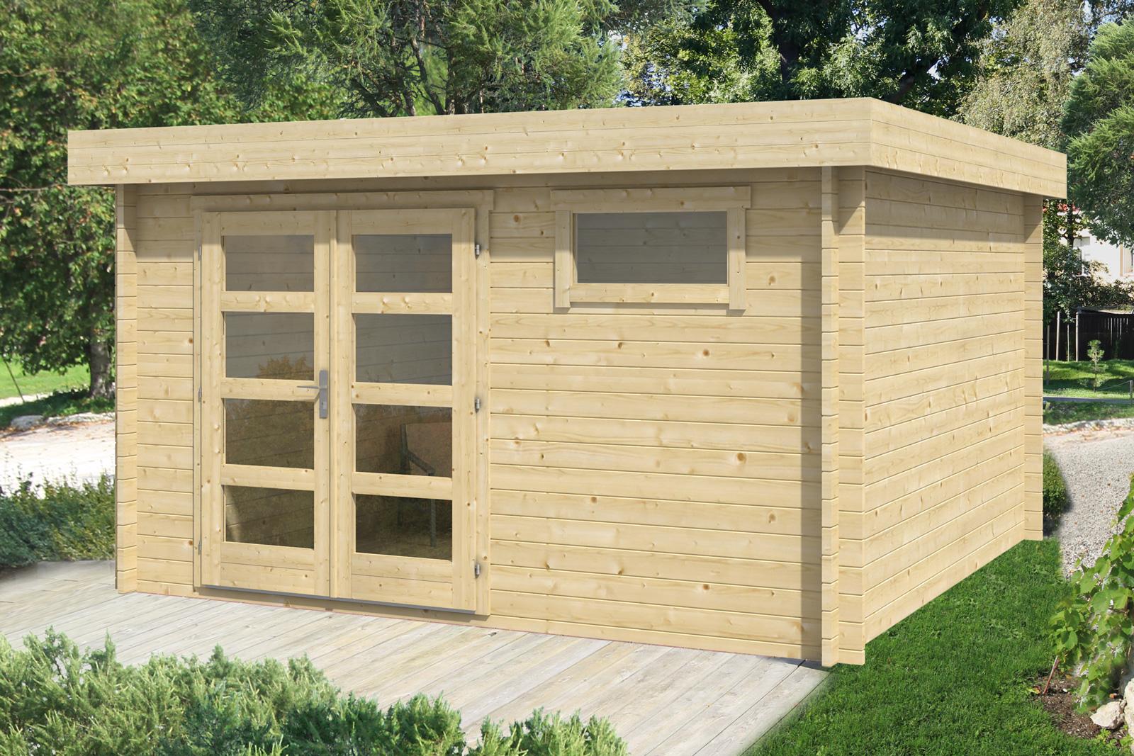 gartenhaus modell nina 40. Black Bedroom Furniture Sets. Home Design Ideas