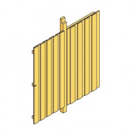 Seitenwand inkl. Tür aus Deckelschalung 141x200cm