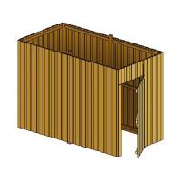 Abstellraum A1 aus Deckelschalung 314x164x220cm