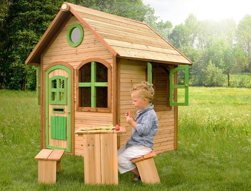 Kind Spielhaus Bank