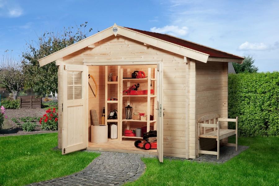 sparset weka gartenhaus premium45. Black Bedroom Furniture Sets. Home Design Ideas