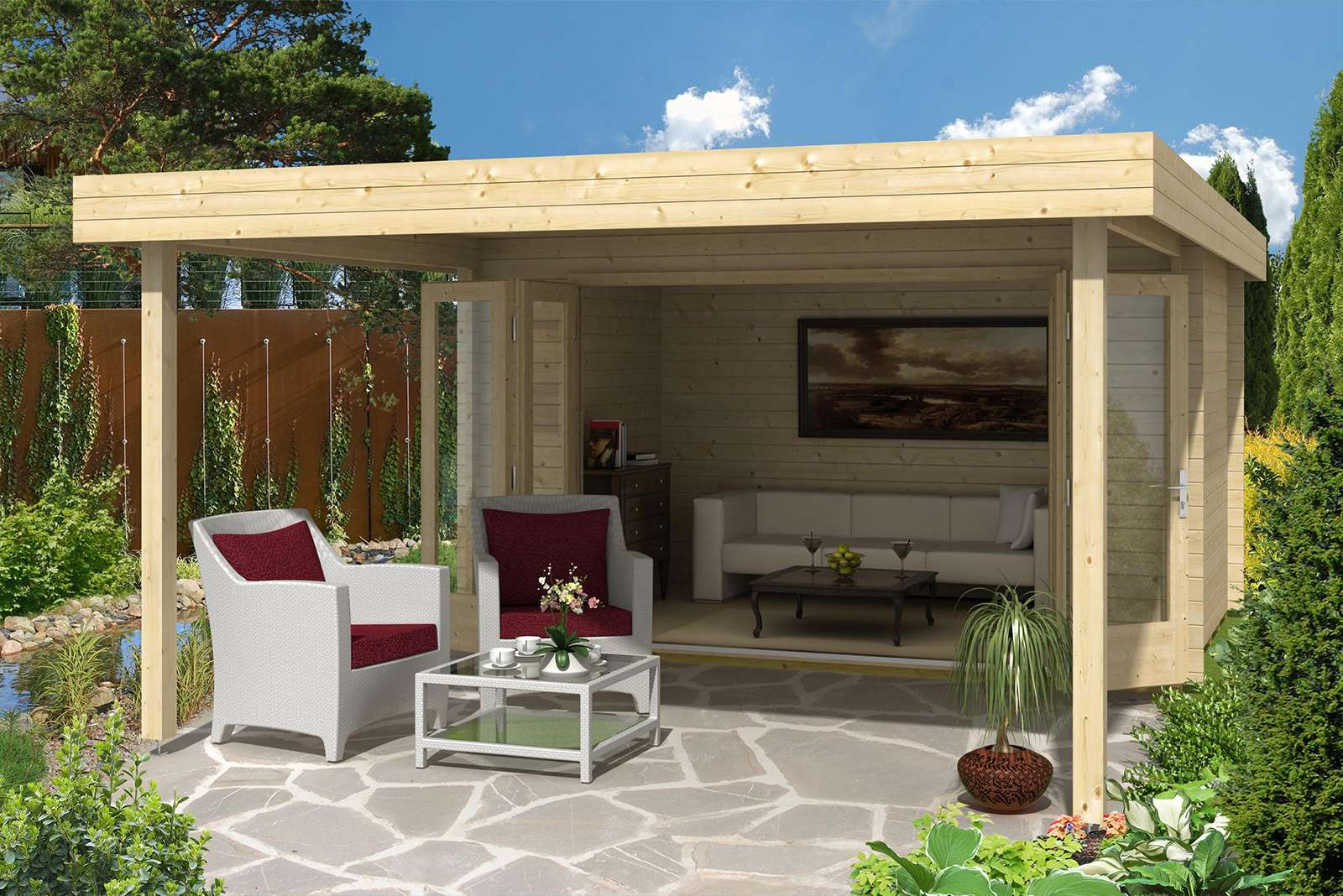 Trendig Gartenhaus 3x4m (12qm): Top Auswahl, faire Preise HH77