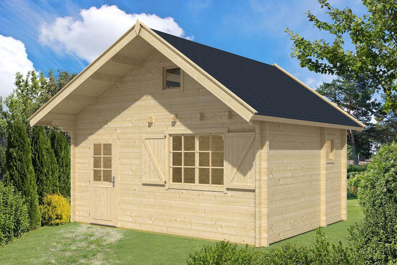 Gartenhaus mit 70 mm Wandstärke kaufen ‒ große Auswahl