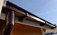 Kastenrinnenset Gr. 4 (1x 6,5 m) für Flachdachhäuser mit Anbau