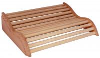 Holzkopfstütze helles Holz 37 x 27 x 8 cm