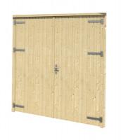 Garagentor für Holzgarage Falun Mahagoni
