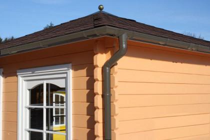 Kunststoff dachrinnen f r gartenh user mit viereckdach - Dachrinnen kunststoff fur gartenhaus ...