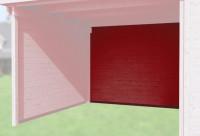 Rückwand für Anbau 150 cm, 21mm für Typ 126 und 172 schwedenrot