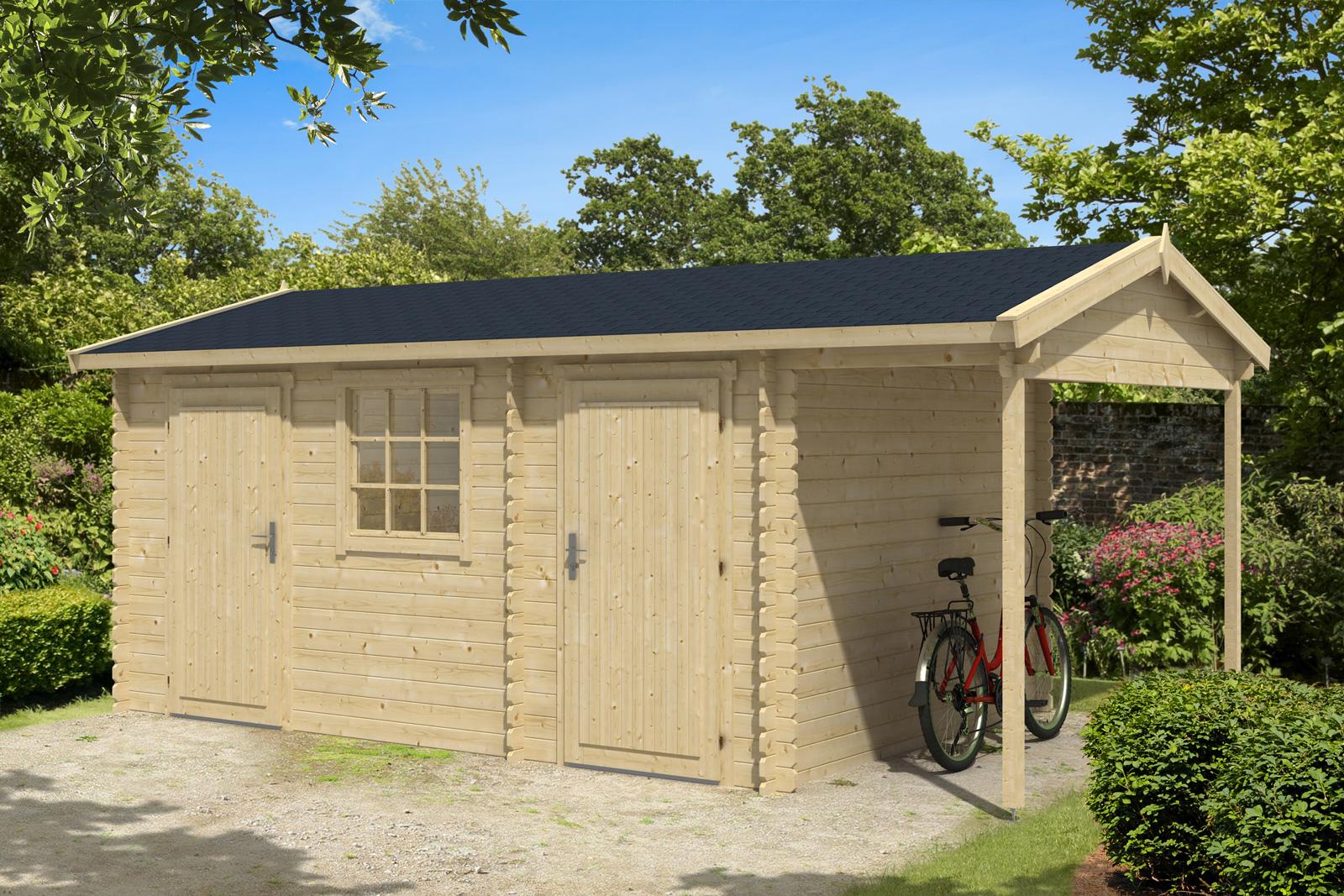 2 Raum Gartenhaus Kassel 28 mit Seitendach