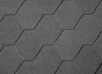 Premium Hexagonalschindeln schwarz  3m²