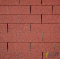 Dachschindeln gerade rot, 3m²