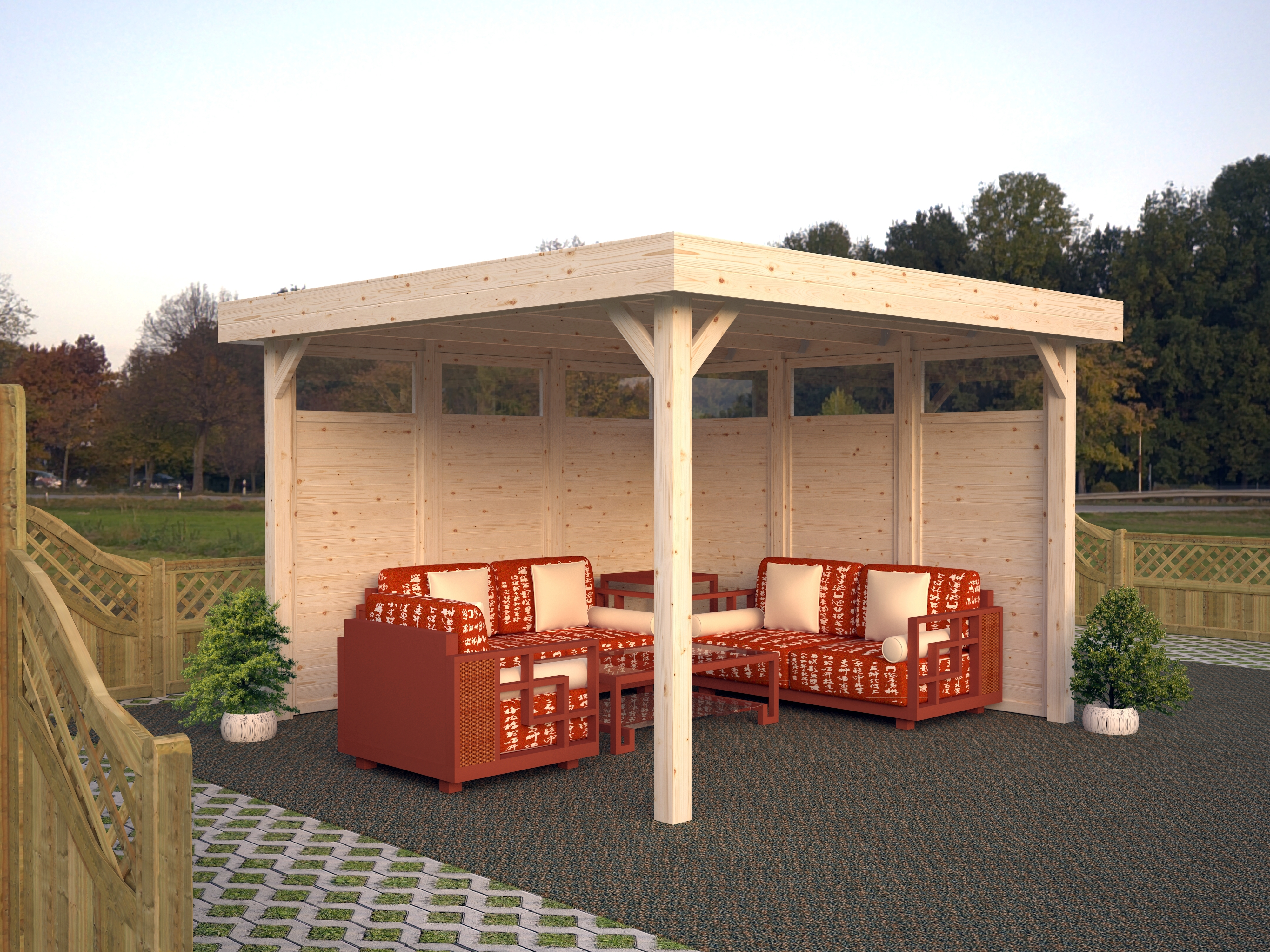 palmako gartenpavillon lucy 12 2 m pav 3535. Black Bedroom Furniture Sets. Home Design Ideas